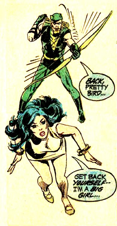 """""""Get back yourself. I'm a big girl.."""" Green Lantern #82 (1971) by Denny O'Neil  Neal Adams"""