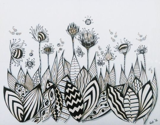 spring by kallyfactory kallyfactory flowers leaves nature art drawing hand drawn hand drawings spring black and white