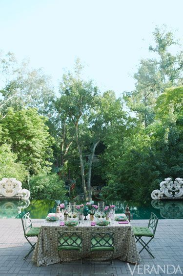 Hutton Wilkinson\'s Exotic Hollywood Home | Porches, Jardines y Invierno