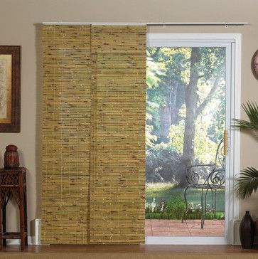 Panel Track Bamboo Blind In Java Natural Modern Window Blinds