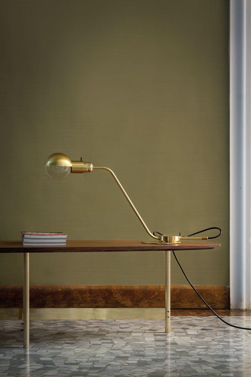 Restart Milano Gold Table Lamp bureau Pinterest