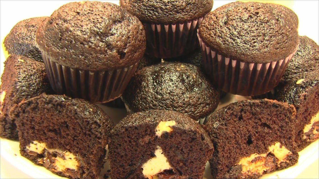 Betty's Cream Cheese Chocolate Chip Self-Stuffed Cupcakes -- VALENTINE'S...