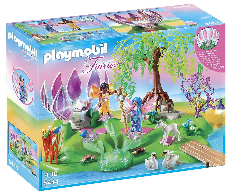 Amazon Com Playmobil Fairy Island With Jewel Fountain Playset Toys Games Fairy Island Imaginative Play Playset