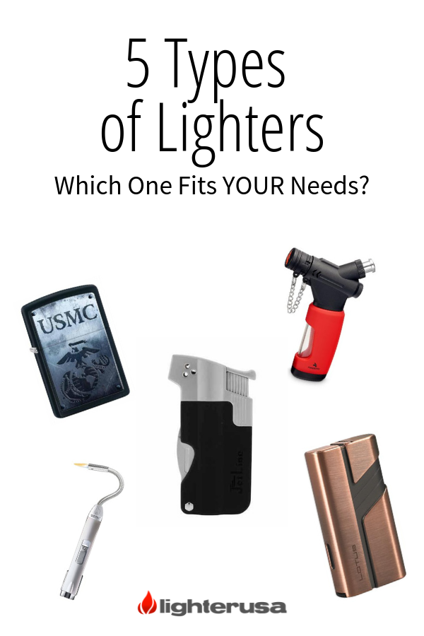 5 Types Of Lighters Lighter Candle Lighters Type