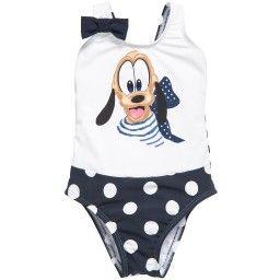 b2919dd7a Monnalisa Bebé - Baby Girls Navy Blue   White Pluto Swimsuit ...