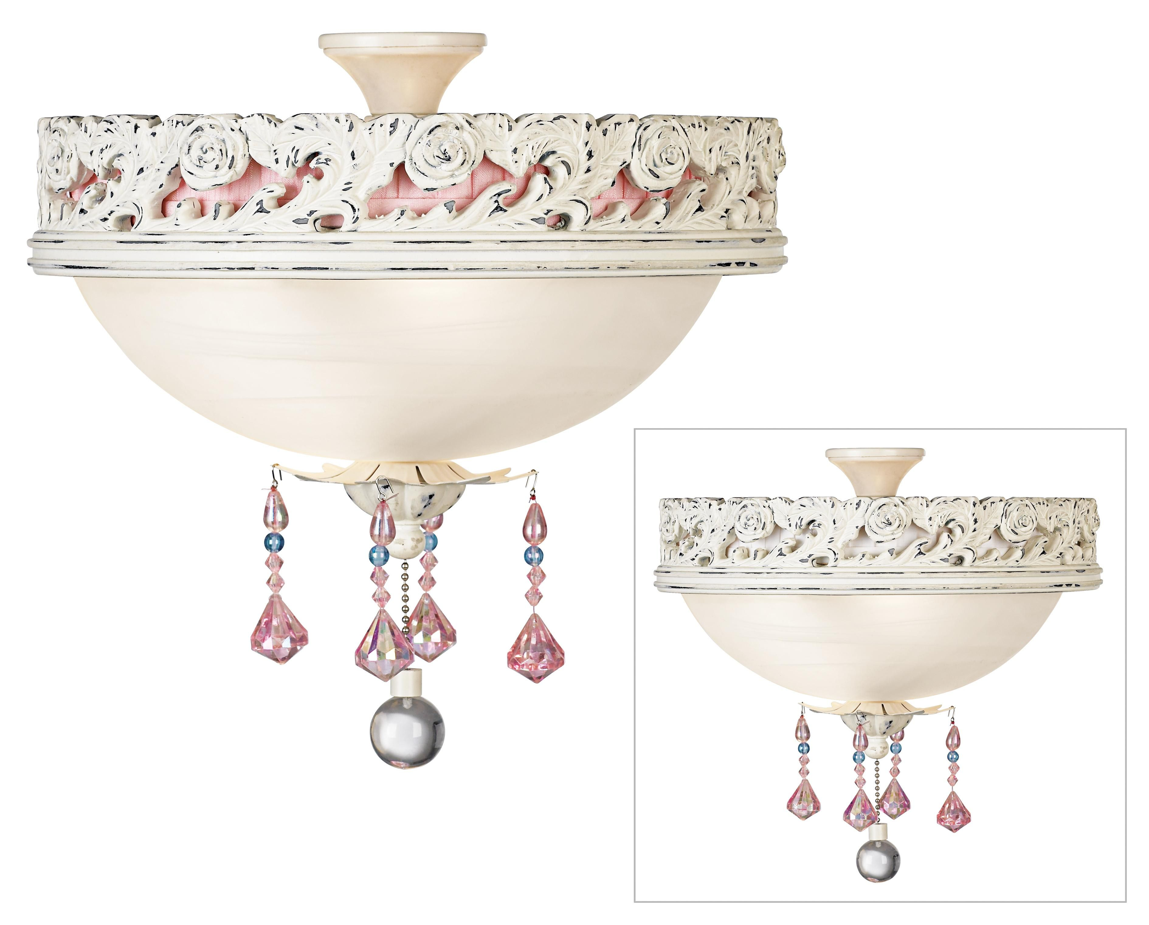 Pretty In Pink Pull Chain Ceiling Fan Light Kit