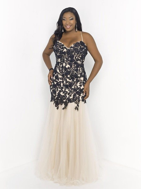 Plus size trumpet prom dress