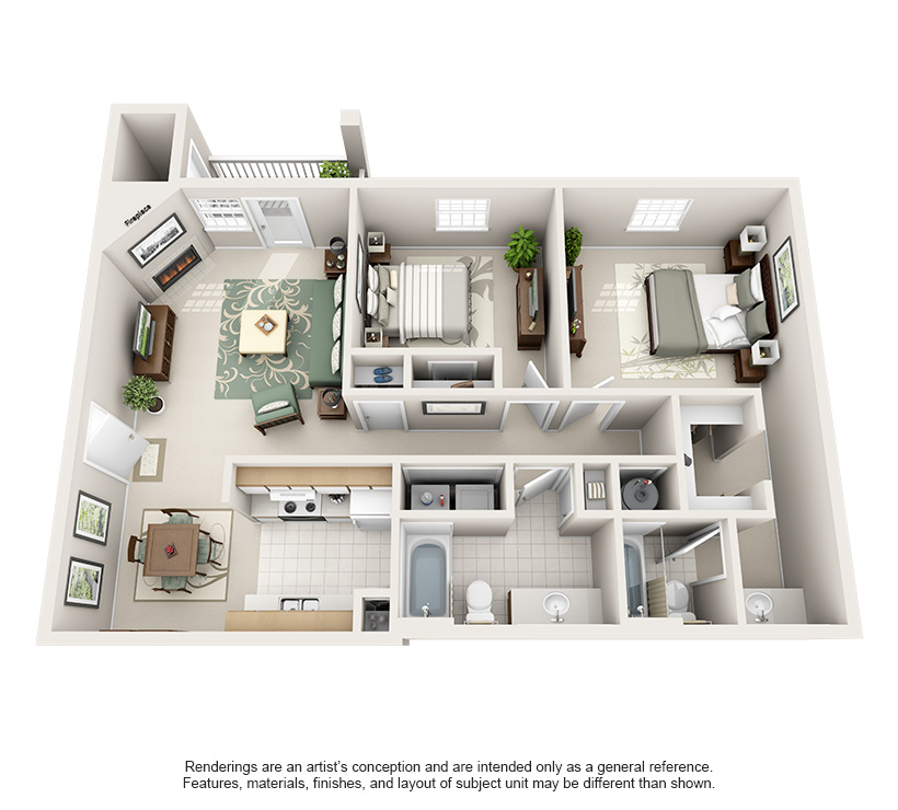 Luxury 1 2 And 3 Bedroom Apartments In Spring Hill Tn Steadfast Apartment Rental Springhill House Floor Design Apartment Layout Apartment Floor Plans