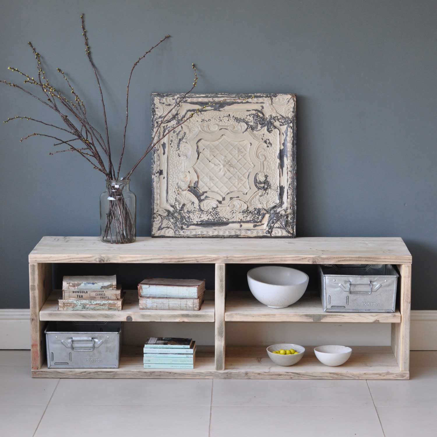 View All Tv Tables Reclaimed Timber And Shelving # Meuble Tv Jade Betty