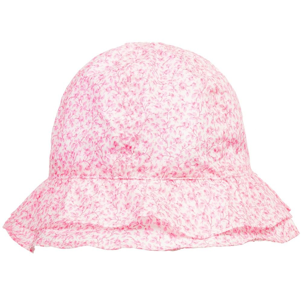 Baby Girls Pink Floral Liberty Print Sun Hat e63efc165d5d