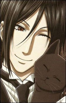 Image result for sebastian michaelis with cat