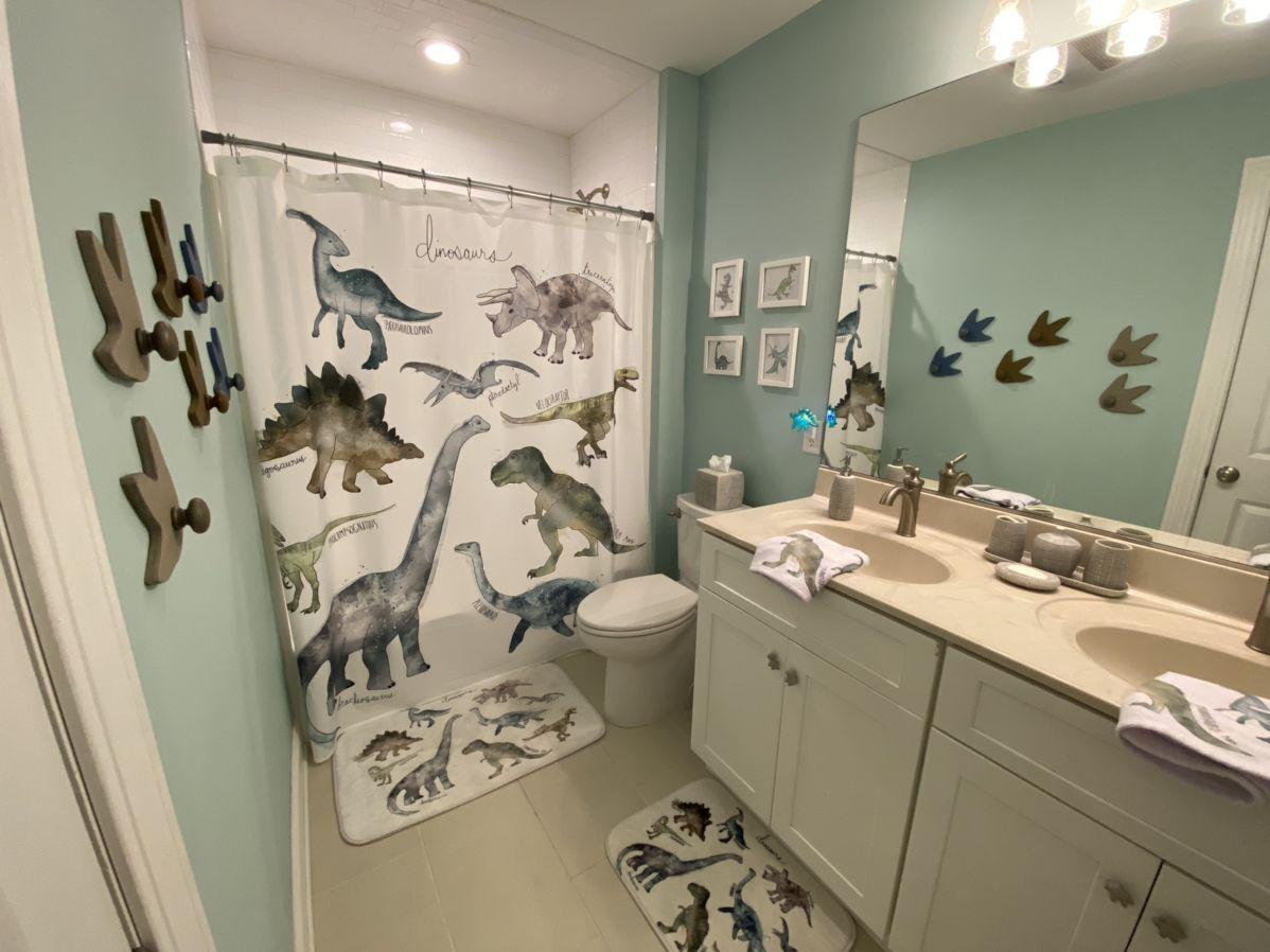 Dinosaur Bathroom Kid Bathroom Decor Boys Bathroom Decor Toddler Bathroom Baby boy bathroom decor