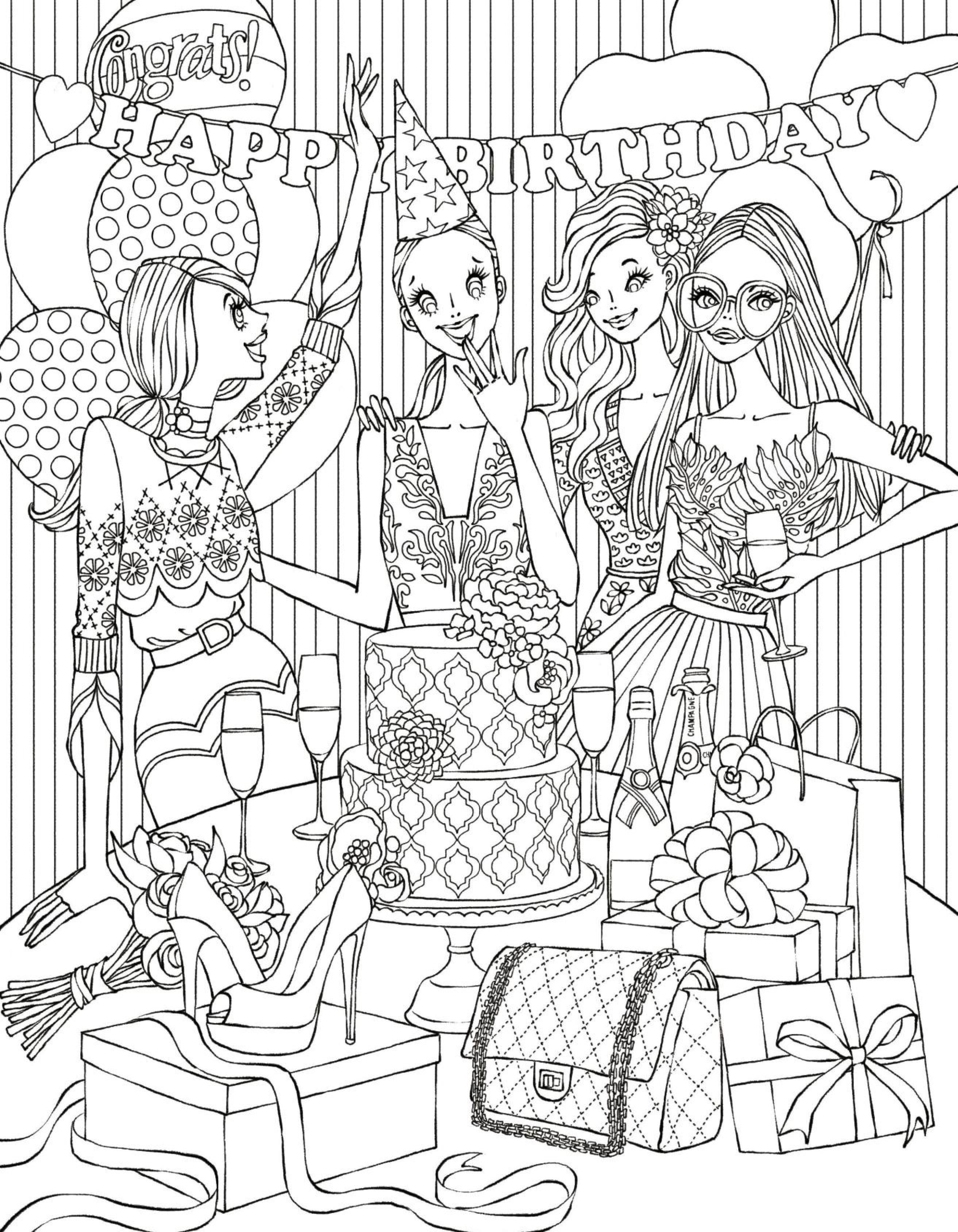 Fashion Coloring Page Download