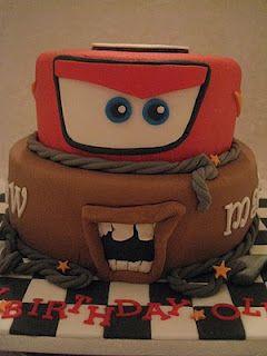 Cars cake...nephews Fourth birthday cake!