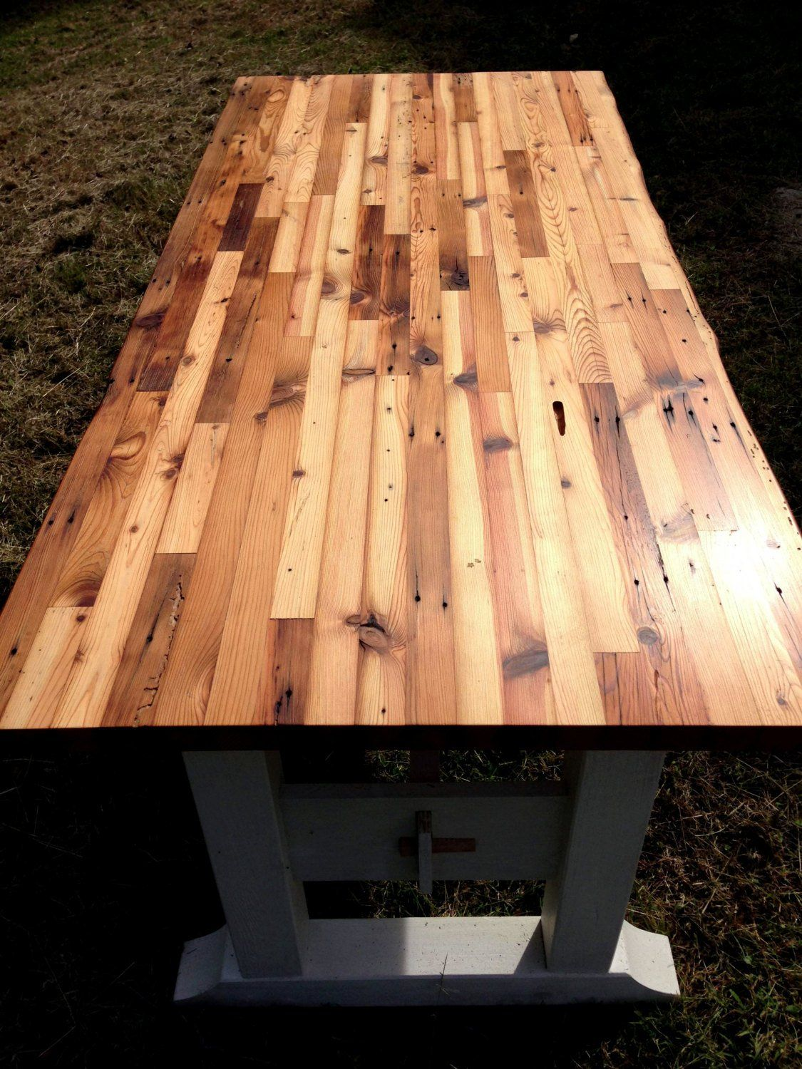 Butcher Block Table Top And Trestle Frame Etsy Butcher Block Table Tops Butcher Block Tables Block Table
