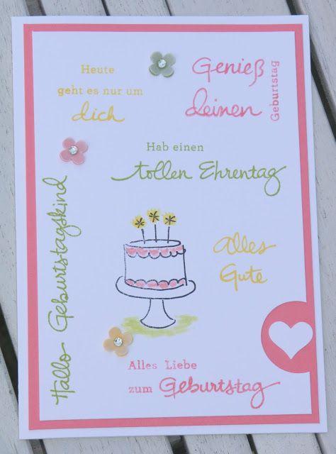 Stempelmessi Eine Sommerliche Geburtstagskarte Kids Birthday Cards Wishes Stamping