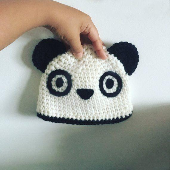 ba4fa5244ed 12 to 24m Toddler Panda Bear Hat