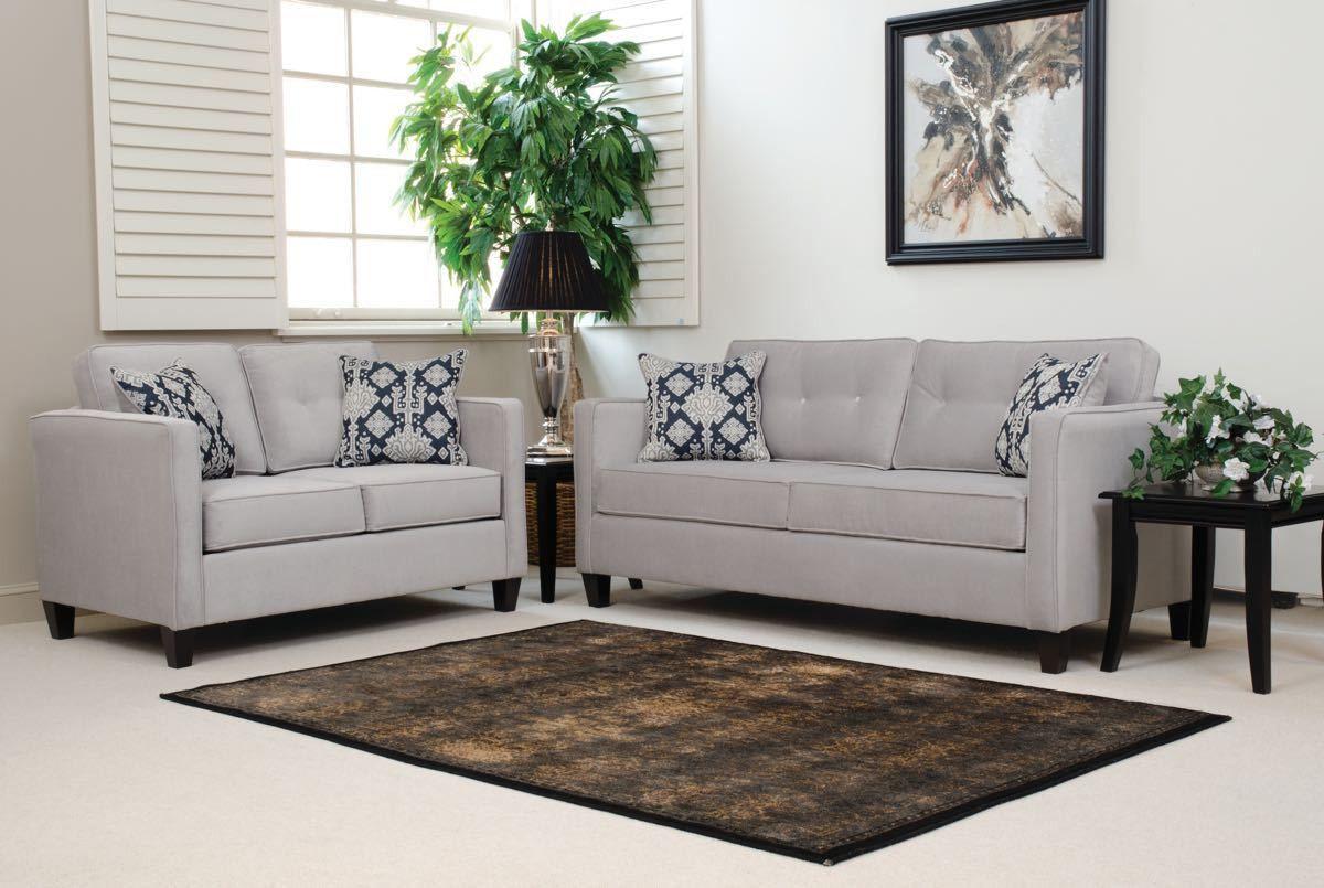 Best Serta Upholstery Elizabeth Silver Sofa And Loveseat 640 x 480