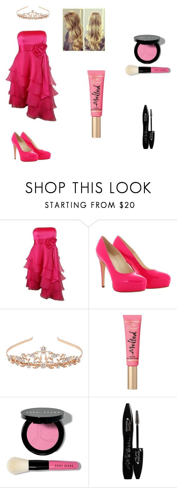 """""""Aurora"""" by sunshinekej on Polyvore featuring Haute Hippie, Brian Atwood, Monsoon, Too Faced Cosmetics, Bobbi Brown Cosmetics and Lancôme"""