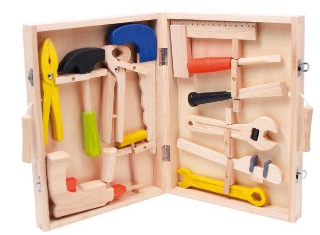 Resultado de imagen de caja herramientas de madera infantil