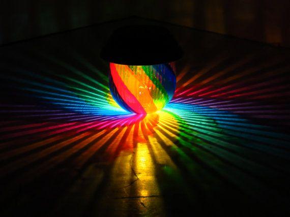 handpainted rainbow solar luminary hurricane lantern reclaimed