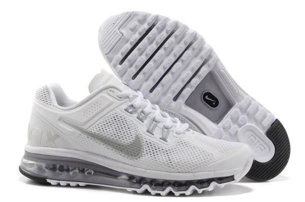 Nike Air Max 2013 White Silver Men s Women s shoes  1ac3672abd