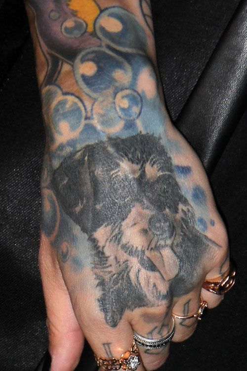 Ruby Rose Dog Hand Tattoo Tattoo Tatuaje De Ruby Rose Tatuajes