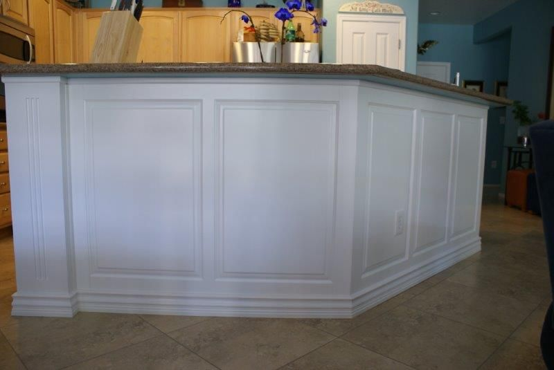 After white panelized backing is added. | Moldings and ...