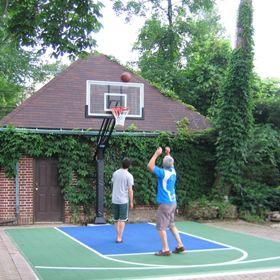 Roof King™ Garage Basketball Hoop U0026 Backboard Combo