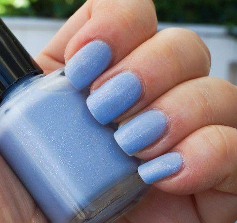 little fluffy clouds  light blue w/ glass fleck shimmer