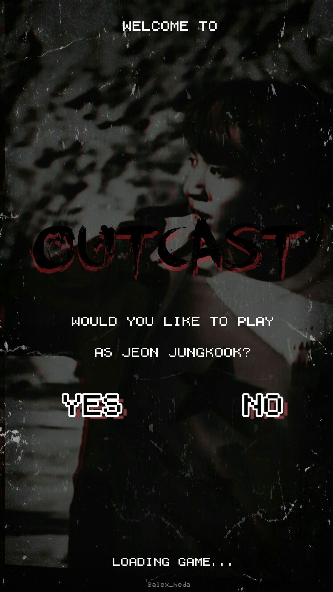 Jungkook Outcast BTS AU Lockscreen #jungkook #bts #outcast
