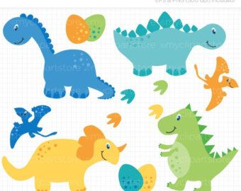 FALL SALE - Dino Boy / Dinosaurs Clip Art / Digital Clipart - Instant Download