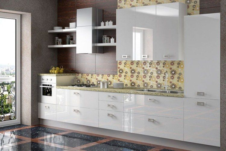 Couleur pour cuisine 105 id es de peinture murale et fa ade cuisine blanc laqu meuble de for Quelle peinture pour une cuisine blanche