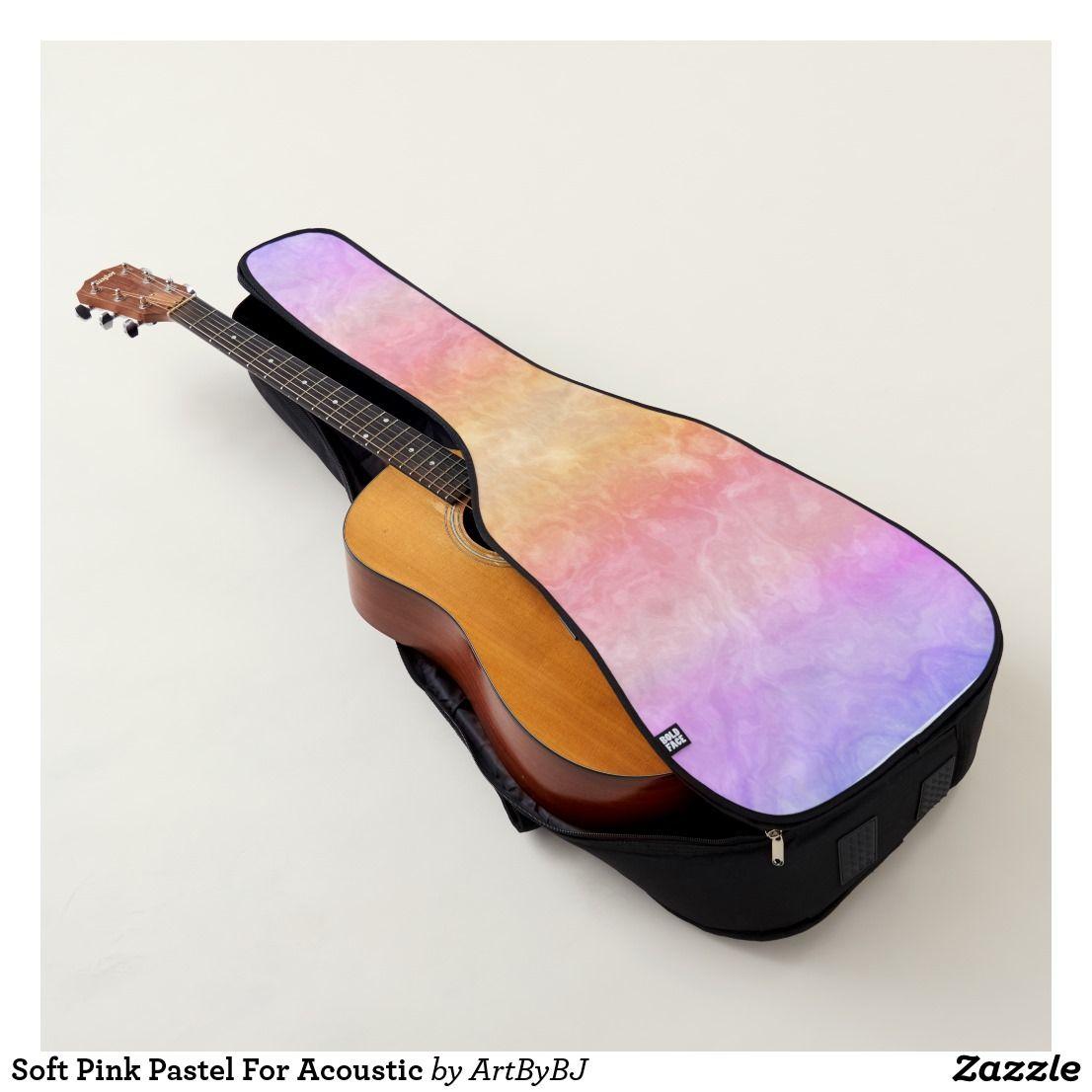 Soft Pink Pastel For Acoustic Guitar Case Zazzle Com Guitar Case Acoustic Guitar Case Guitar Bag