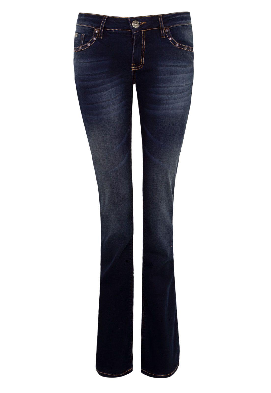 Calça Jeans Forum Bootcut Raquel Tachas Azul - Compre Agora | Dafiti Brasil