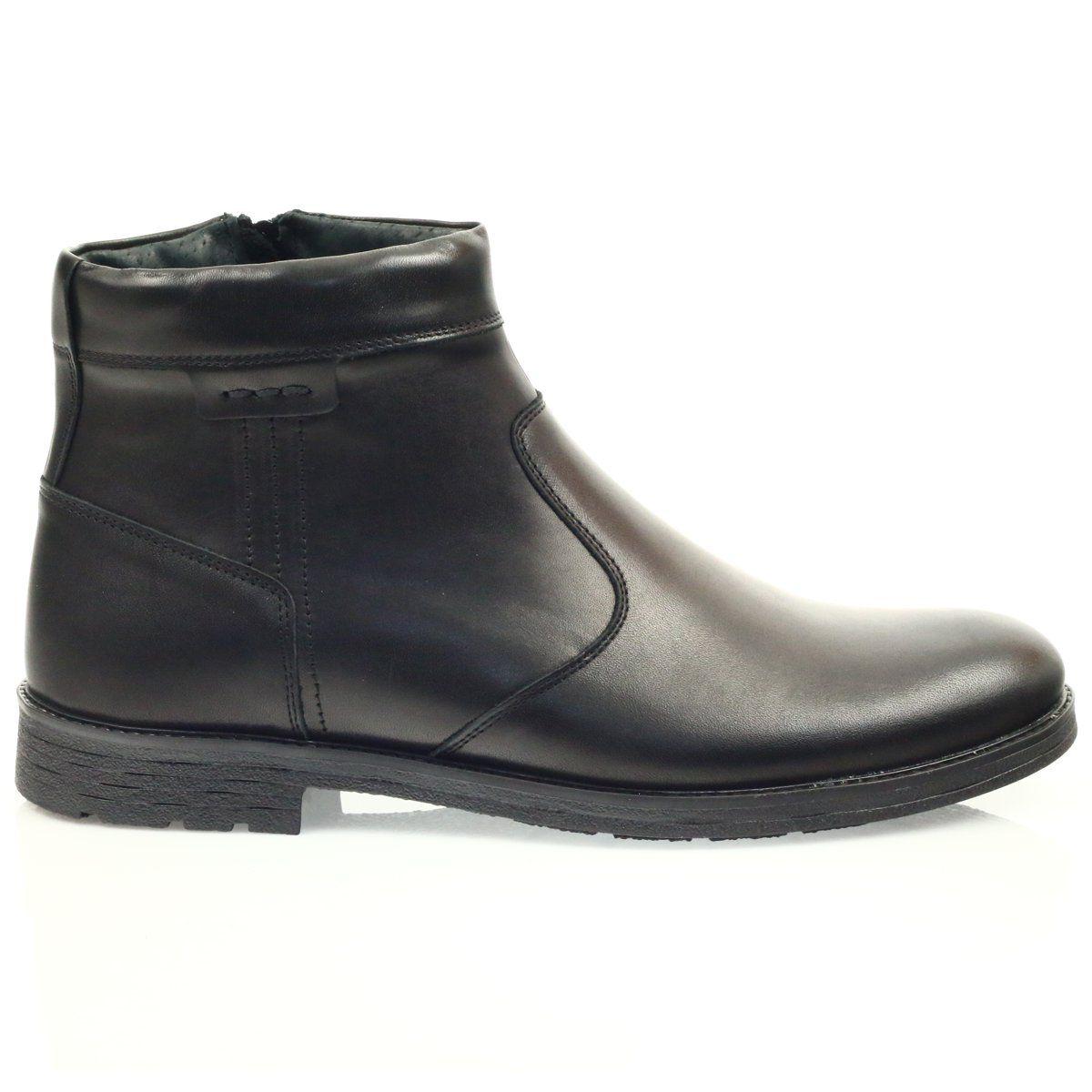 Sztyblety Meskie Riko Botki Meskie Na Suwak Riko 825 Czarne Chelsea Boots Boots Shoes