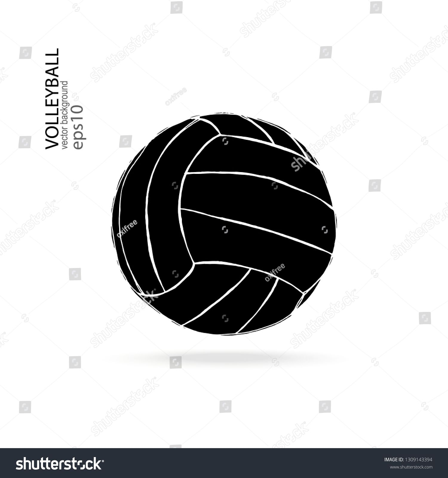 Vector Black Volleyball Ball Isolated On White Background Vector Element For Sports Design Print On T Shirt Ad Affi Tshirt Print Artwork Abstract Design