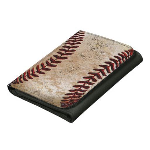 Custom Vintage Baseball Leather Wallet For Guys Baseball