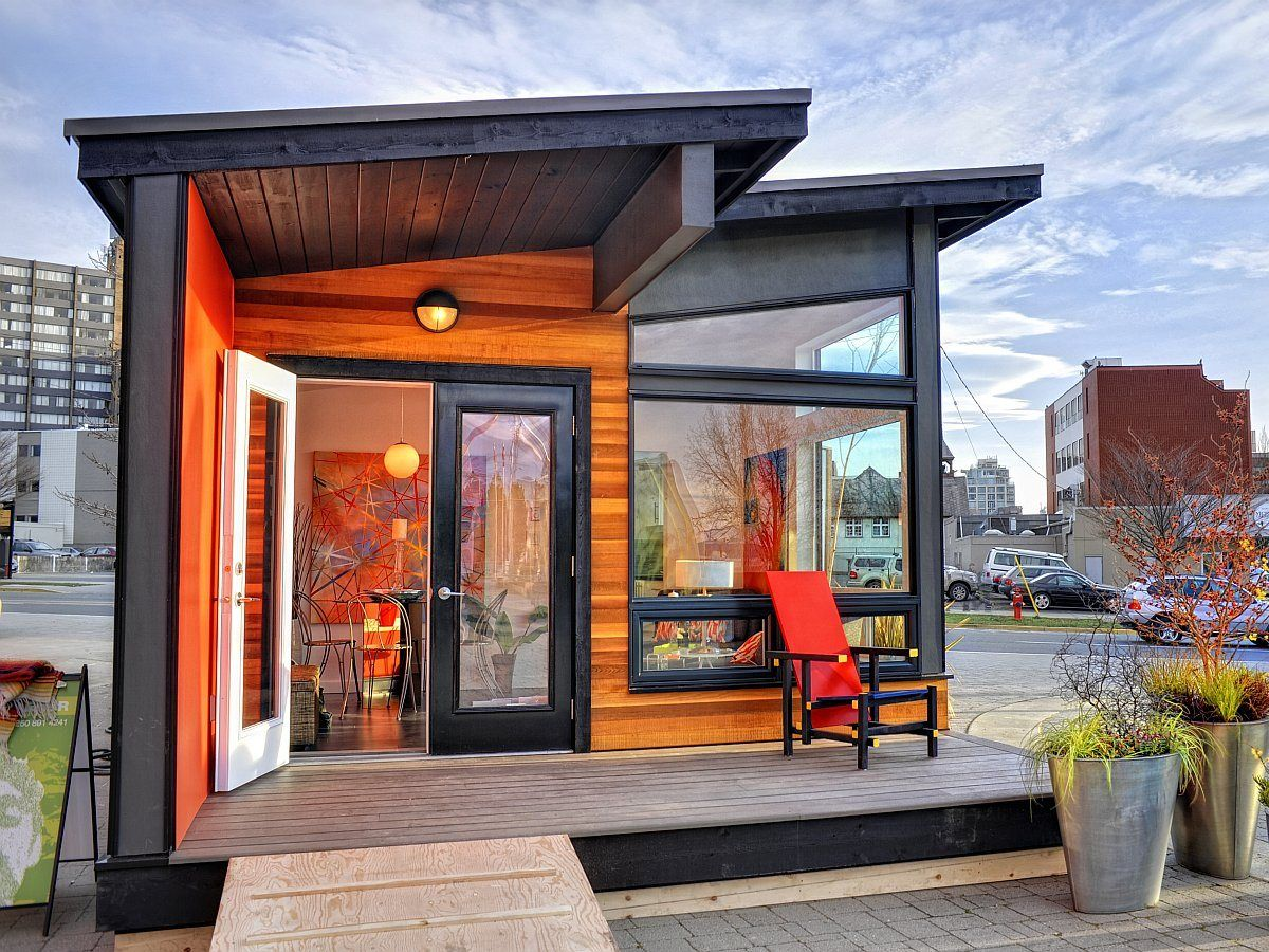 Studio37 A Modern Backyard Cottage By Small Modern Living Modern Prefab Homes Small House Design Architecture Small House Design