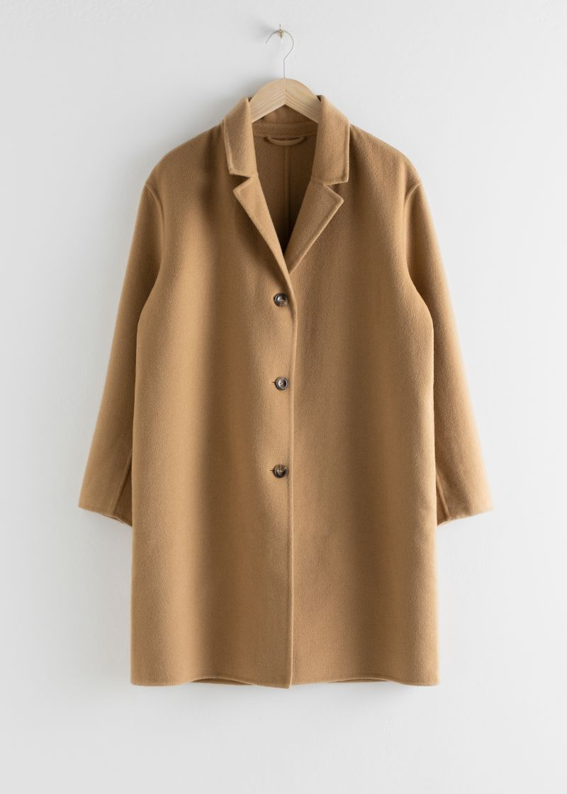 Relaxed Wool Blend Coat Other Stories Andotherstories Fashion Wool Coat Coats Jackets Women Windbreaker Jacket Women Coat [ 1120 x 800 Pixel ]