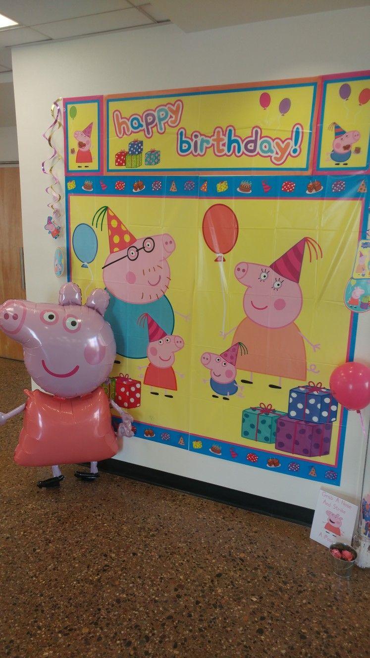 Peppa Pig Wall decor. Peppa Pig birthday party | Eliza\'s 2nd ...