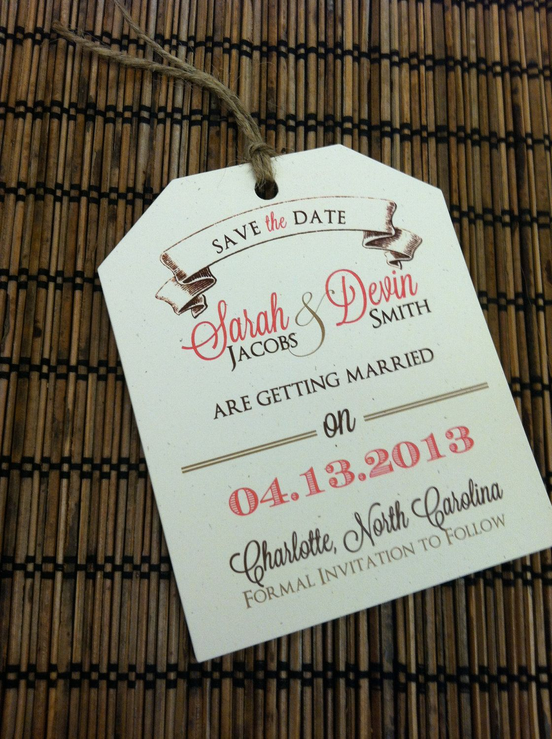 Cute luggage tag - cool idea for travel themed wedding. Name tags ...