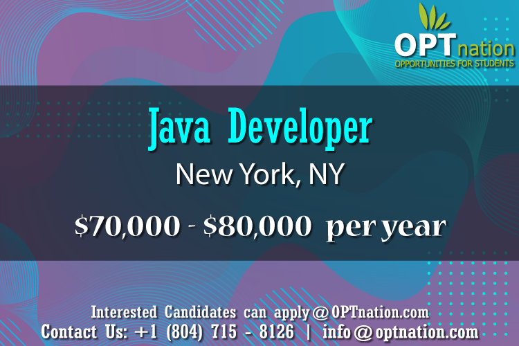 We Re Hiring Java Developer In New York Ny In 2020 Development Job Search Job