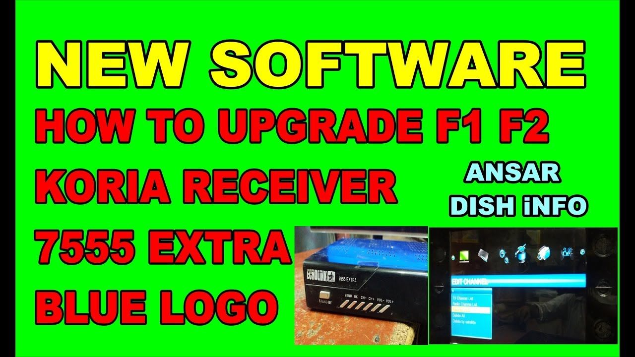 how to upgrade echolink 7555 extra auto roll powervu key software