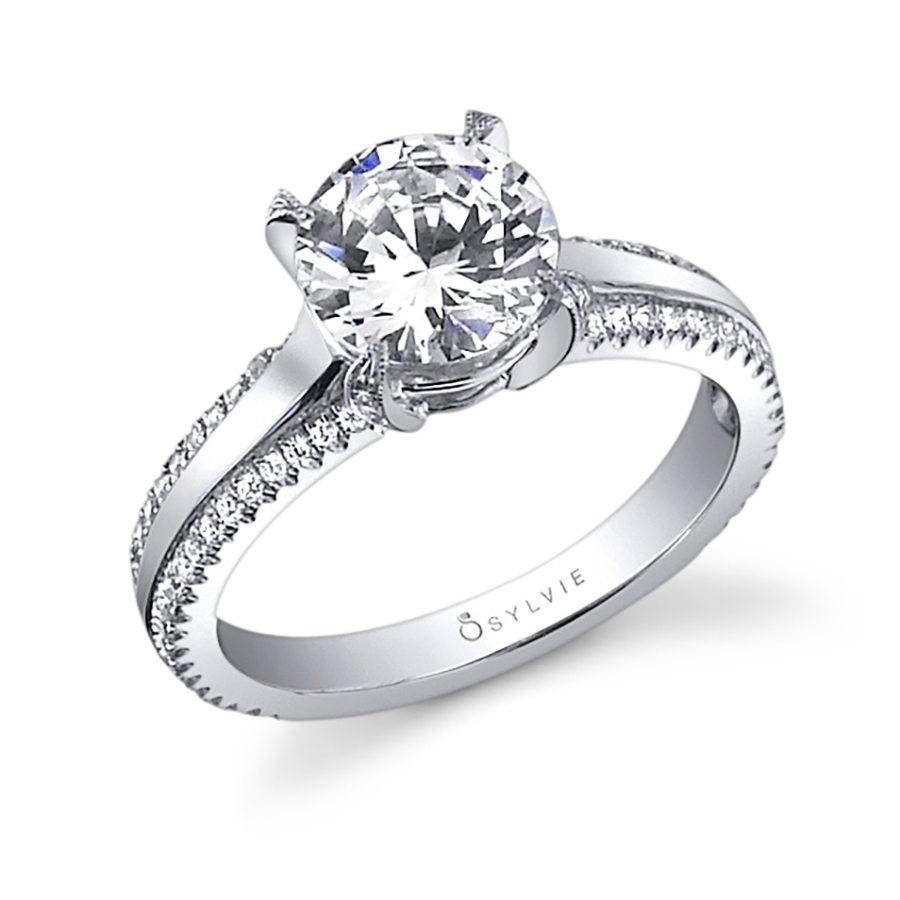 Maryvonne unique solitaire engagement ring unique