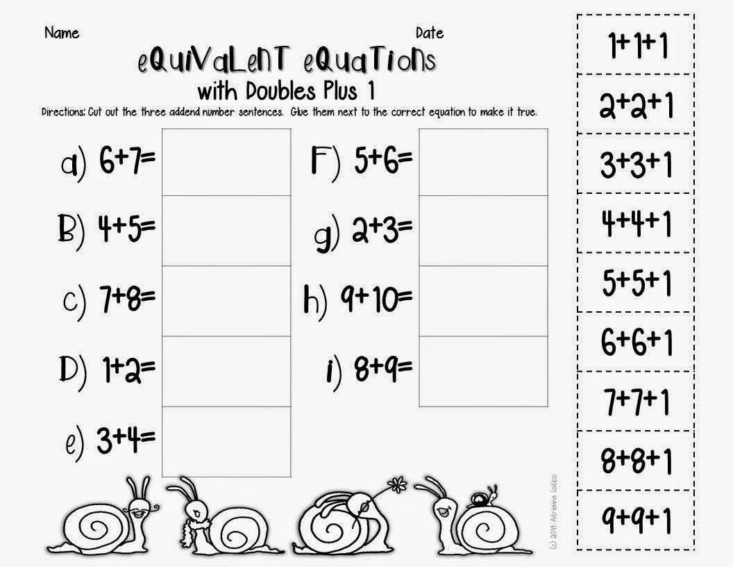 Equivalent Equations First Grade