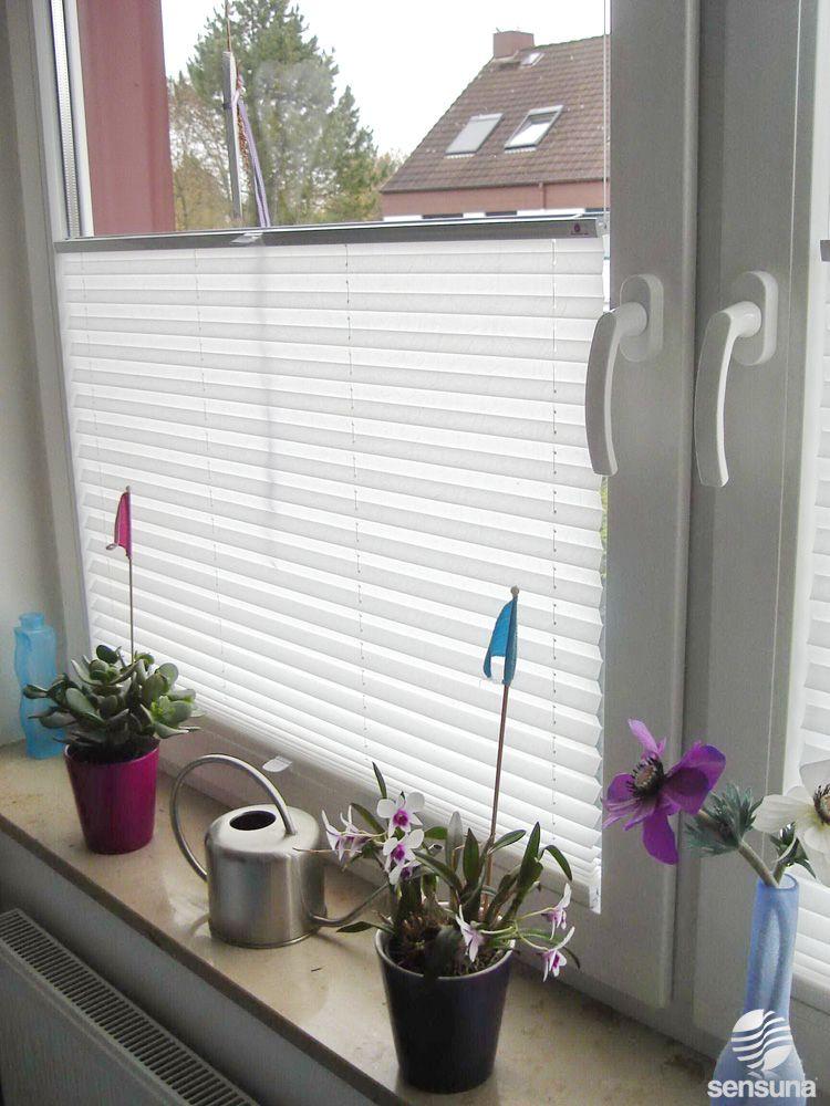 sensuna® Sichtschutz Plissees im Schlafzimmer   sensuna® pleated - vorhänge blickdicht schlafzimmer