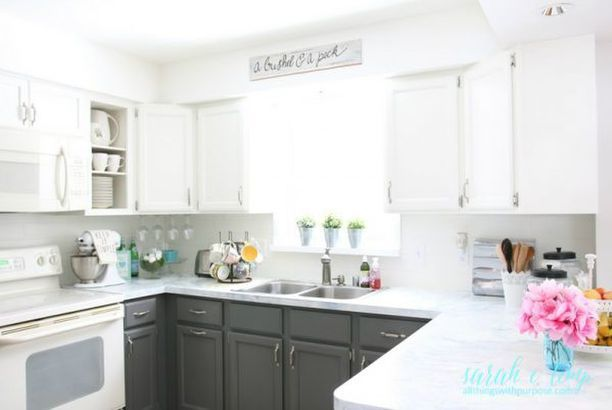 DIY Budget-Friendly White Kitchen Renovation with Shiplap Backsplash - Kitchen Renovation On A Budget