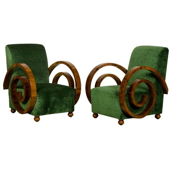 A pair of Art Deco period walnut armchairs from France c.1930 ❤ liked on Polyvore featuring home, furniture, chairs, accent chairs, art deco, walnut chairs, walnut wood furniture, paris chair and walnut furniture