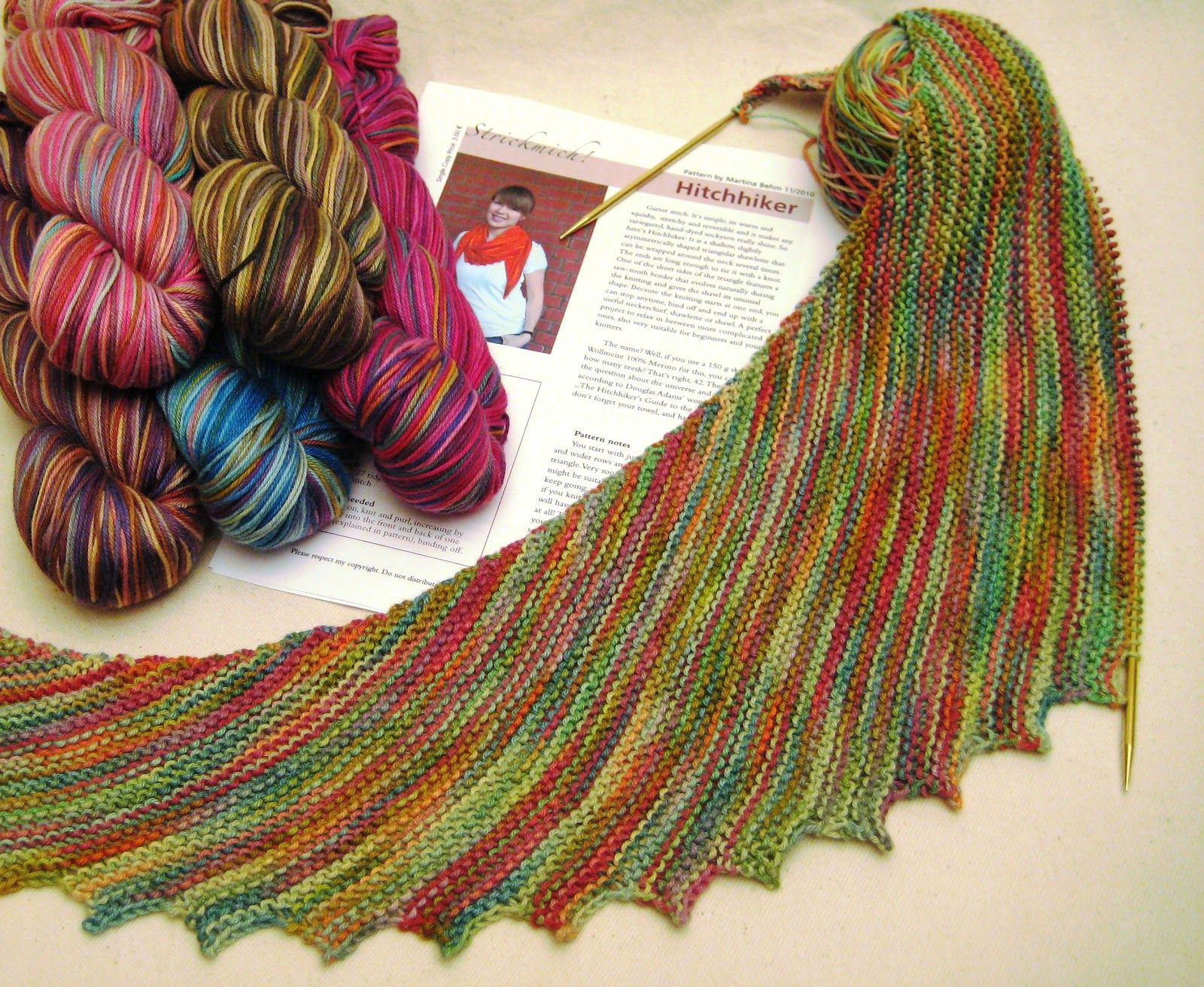 Hitchhiker Scarf Google Search This Is Our Knitting Group S Next